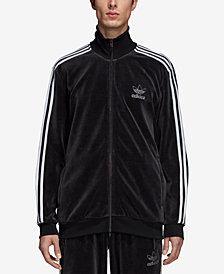 adidas Men's Originals Adicolor Velour Track Jacket