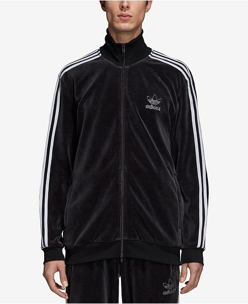 68b8683340 adidas Men s Originals Adicolor Velour Track Jacket   Reviews ...