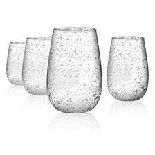 Artland Silver Rustica 16 oz. Stemless Glass, Set of 4