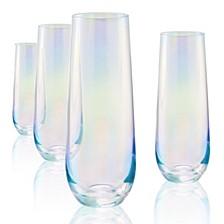 Luster Clear Stemless Glass - Set of 4