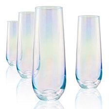 Artland Set of 4 9oz. Luster Purple Stemless 9oz. Glasses