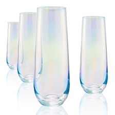 Artland Luster Clear Stemless Glass - Set of 4