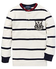 Polo Ralph Lauren Little Boys Striped Mesh Cotton Henley Shirt