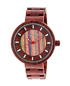 Earth Wood Root Wood Bracelet Watch Red 41Mm
