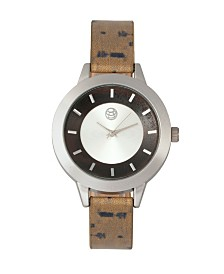 Earth Wood Autumn Watch Silver/Brown 38Mm