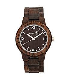Earth Wood Bighorn Wood Bracelet Watch Brown 46Mm