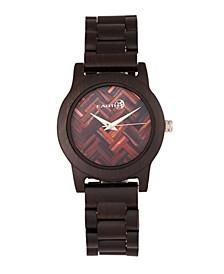 Crown Wood Bracelet Watch Brown 41Mm