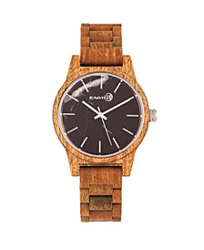 Earth Wood Tuckahoe Marble-Dial Wood Bracelet Watch Olive 40Mm