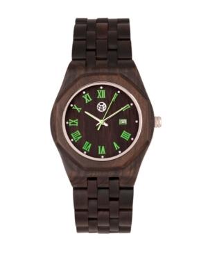Baobab Wood Bracelet Watch W/Date Brown 46Mm