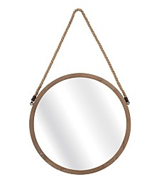 Imax Rally Wood Mirror
