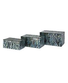 Imax Aramis Mosaic Boxes - Set of 3