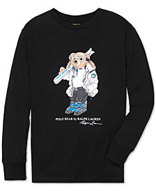 Polo Ralph Lauren Big Boys Ski Bear Long-Sleeve Cotton T-Shirt