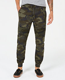 American Rag Men's Fleece Camo Jogger Pants, Created for Macy's
