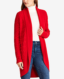 Lauren Ralph Lauren Cable-Knit Cotton Cardigan