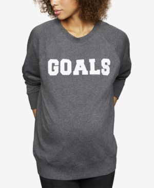 Image of A Pea In The Pod Goals Crew Neck Maternity Sweatshirt