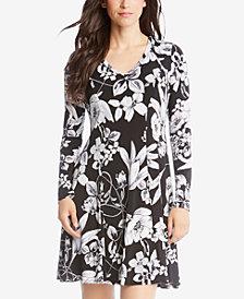 Karen Kane Floral-Print A-Line Dress