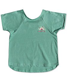 Roxy Little Girls Crochet-Strap Cotton Top
