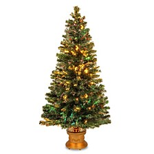 "National Tree 60"" Fiber Optic Fireworks Evergreen Tree"