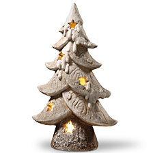 "National Tree 17"" Lighted Tree Décor Piece"