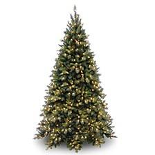 National Tree 6 .5' Tiffany Medium Fir Hinged Tree with 600 Clear Lights