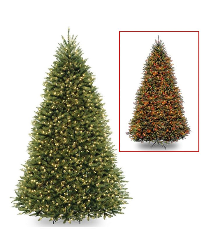 National Tree Company - National Tree 12' Dunhill Fir Tree with 1200 Dual Color LED Lights and Power Connect