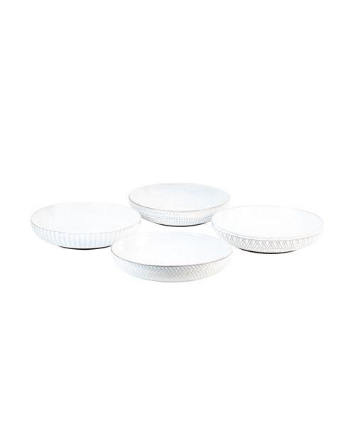 Sango Glyph White Set of 4 Dinner Bowls