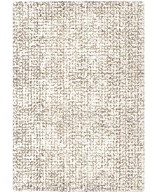 "Jennifer Adams  Cotton Tail Ditto White 7'10"" x 10'10"" Area Rug"