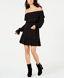 MICHAEL Michael Kors Flounce-Trim Off-The-Shoulder Dress