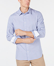 Calvin Klein Men's Windowpane Shirt