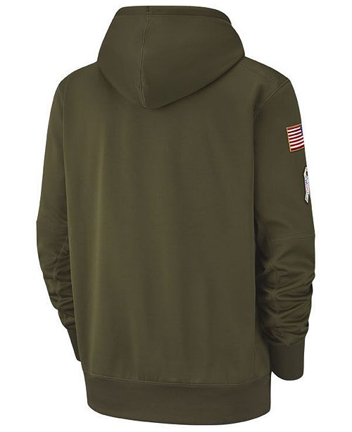 6cfe6b44f Nike Men s New England Patriots Salute To Service Therma Hoodie ...