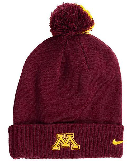 Nike Minnesota Golden Gophers Beanie Sideline Pom Hat