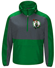 G-III Sports Men's Boston Celtics Leadoff Lightweight Half-Zip Jacket