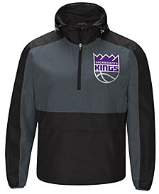 G-III Sports Men's Sacramento Kings Leadoff Lightweight Half-Zip Jacket