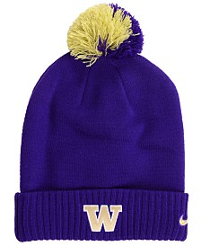 Nike Washington Huskies Beanie Sideline Pom Hat