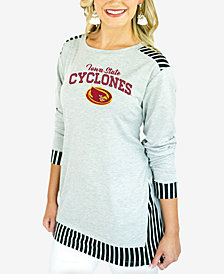 Gameday Couture Women's Iowa State Cyclones Striped Panel Long Sleeve T-Shirt