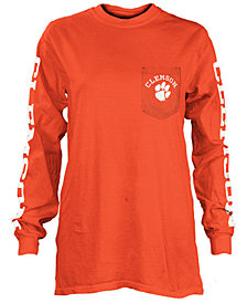 Pressbox Women's Clemson Tigers Long Sleeve Pocket T-Shirt