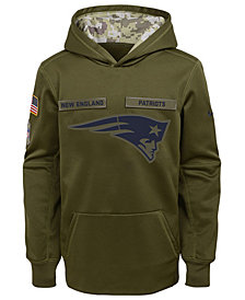 Nike New England Patriots Salute To Service Therma Hoodie, Big Boys (8-20)