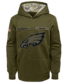 Nike Philadelphia Eagles Salute To Service Therma Hoodie, Big Boys (8-20)