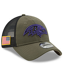 New Era Baltimore Ravens Camo Service Patch 9TWENTY Trucker Cap