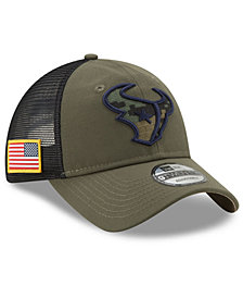 New Era Houston Texans Camo Service Patch 9TWENTY Trucker Cap