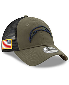 New Era Los Angeles Chargers Camo Service Patch 9TWENTY Trucker Cap