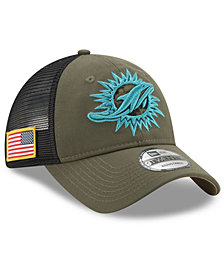 New Era Miami Dolphins Camo Service Patch 9TWENTY Trucker Cap