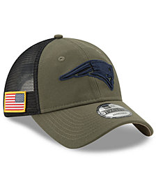 New Era New England Patriots Camo Service Patch 9TWENTY Trucker Cap