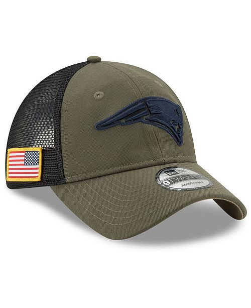 dd1a340afdb ... New Era New England Patriots Camo Service Patch 9TWENTY Trucker Cap ...