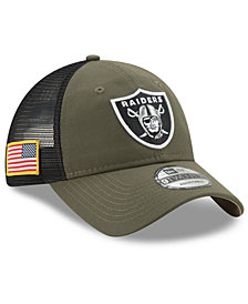 New Era Oakland Raiders Camo Service Patch 9TWENTY Trucker Cap