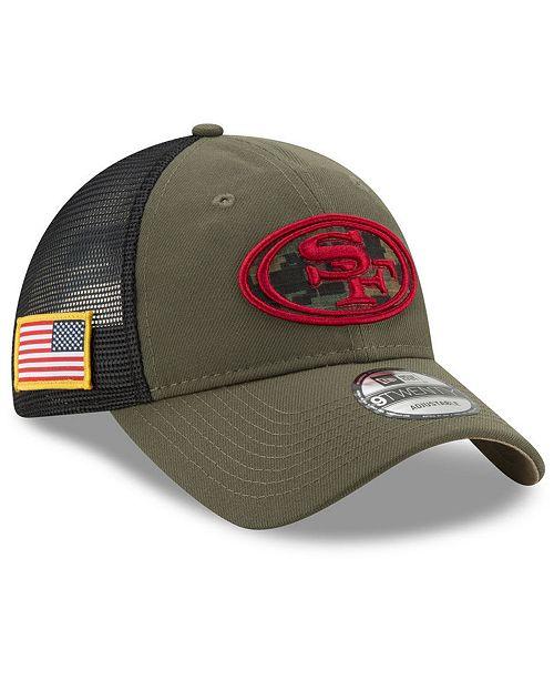 648792eb11203 ... New Era San Francisco 49ers Camo Service Patch 9TWENTY Trucker Cap ...
