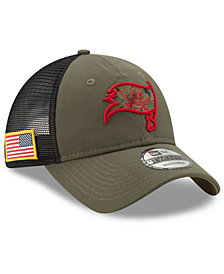 reputable site 97b27 bfa31 New Era Tampa Bay Buccaneers Camo Service Patch 9TWENTY Trucker Cap