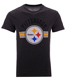 Authentic NFL Apparel Men's Pittsburgh Steelers Checkdown T-Shirt