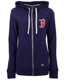 New Era Boston Red Sox Triblend Fleece Full-Zip Sweatshirt