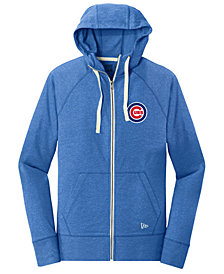 New Era Chicago Cubs Triblend Fleece Full-Zip Sweatshirt